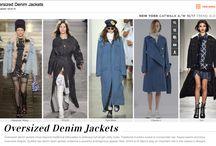 Oversized Denim Jackets Trend / A/W 2016 Oversized Denim Jackets Trend