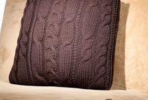 pletené polštáře