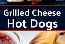 Grill Cheese Hotdog With Bacon