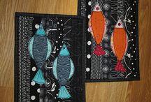Zewnice potholder and mug rugs / made by Zewnice