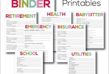 Lists and Printables