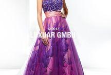 Nové modely společenských šatů značky LUXUAR /