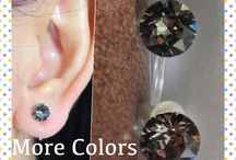 clip on earrings / Invisible and comfortable clip on earrings. The clip parts are made of clear & flexible resin. Thus, these clip on earrings look just like pierced earrings. They are also very comfortable to wear and do not fall off.