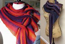 Норвежский треугольный шарф