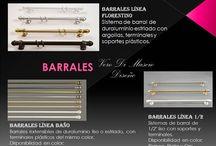 BARRALES Y RIELES / Te ofrezco calidad, diseño y buen gusto en la elección de Barrales y Rieles para tus pedidos.. Tu necesidad es mi compromiso... https://www.facebook.com/vero.dimascio