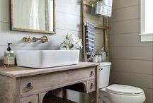 Bathroom / Find ideas for bathroom design, decor, remodels, paint colors, vanities, storage solutions and more.