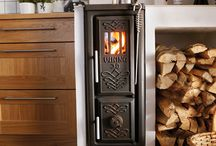 Heating & Ovens / Mostly iron and potbelly stoves, and old-fashioned fireplaces