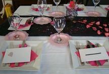 Birthday Party - theme Cygnes / Cygnes - Couleurs -  rose et noir