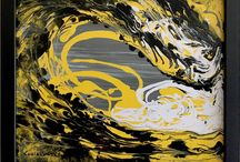 Abstract Wave Paintings