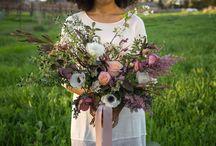 B-Side Farm Bridal Bouquets / Farm-fresh bridal bouquets made by B-Side Farm.