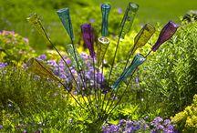Glass i hagen