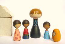 poppen van hout