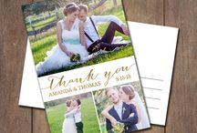Thank You Cards / Wedding thank you cards - also suitable for any other occasion.