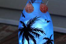 lighted bottle decoration