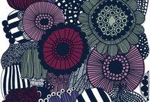 Siirtolapuutarha violetti marimekko
