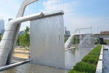 Vann- inspirasjon og ideer / Ideer til overvannshåndtering og gode løsninger for bruk av vann som element i by/park/landskap