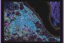 """PlanosUrbanos, colección """"Final del XX"""" / Arte cartográfico, mapas o planos de ciudades para coleccionar, decorar o regalar. Disponible en www.planosurbanos.com"""
