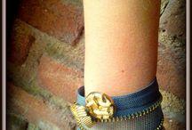 zip bracelet / handmade bracelet