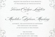 Wedding: invitations