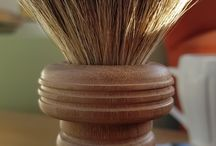 Shaving Brushes / Turned wooden shaving brushes