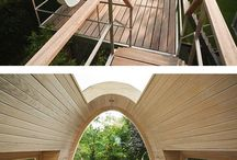 Tree House Inspiration / architectural attempt for the idea of a house integrated with trees & nature