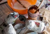 Κατασκευες απο papier mache / Ζωα