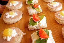 Bocados Salados / Canapés, mini sándwiches, tapaditos, bruchetta, crostinis
