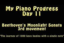 """Journey of 1000 Keys / """"The journey of 1000 keys starts with a single note."""" I invite you to take a trip with me ...,down the long road towards the 3rd movement of Beethoven's Moonlight Sonata. Follow my warts and all progress as I work my way towards playing this piece to the best of my own humble ability."""