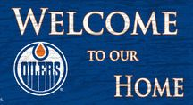 Oilers Mancave / Sports merch for the mancave of Edmonton Oilers fans