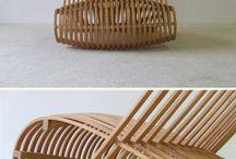 Steam bent wood