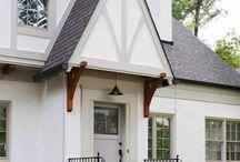 Tudor style home exteriors / Our new home exterior