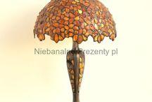 Lampy Bursztynowe - Baltic Amber Lamps / Lamps made of Baltic Amber or stained glass lamps decorated with Baltic Amber. Lampy bursztynowe oraz lampy  z dodatkiem bursztynu bałtyckiego.  http://niebanalne-prezenty.pl/lampy bursztynowe