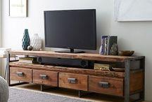 Doğal Ahşap Tv Ünitesi ( natural wood tv unit ) / Doğal Ahşap Tv Ünitesi ( natural wood tv unit ) Ev dekorasyonu Sanatın Doğal Ahşapla Birleşmesi www.mozilya.com