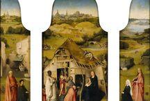 """Galeria """"Pokłon trzech magów"""" / Galeria malarstwa przybliżająca temat pokłonu trzech króli (magów), którzy przyszli do Betlejem złożyć hołd nowo narodzonemu Dzieciątku. Wielu malarzy malowało tę scenę  opisaną w Ewangelii Świętego Mateusza."""