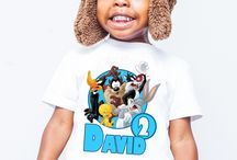 Looney tunes birthday personalized tshirt