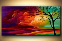 Tree art / Paintings or artwork of trees