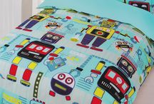 Robot Bedding / Robot bedding sets and bedroom accessories available from Kids Bedding Dreams online store. www.kidsbeddingdreams.com/robot-bedding