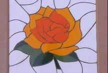 Meus mosaicos / Rosa em mosaico