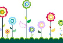 ポップでカラフルな花