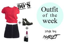Outfit of the Week / We show you how to combine vintage clothes.   http://marlet-shop.com/blogs/news