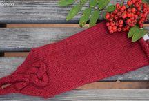 Knitted warmth / Ranteinen / Designed and made by Sininen Sopukka.