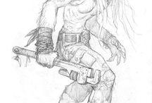 Hombre lobo Apocalipsis / Arte de este juego de rol