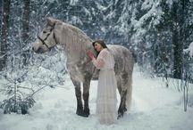 Shooting avec cheval