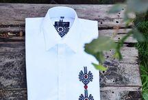Moda folkowa męska / koszule folkowe góralskie, spodnie z parzenicami, pasy góralskie, stroje góralskie