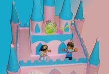 Castle Cakes / These Caste Cakes are perfect for any childs birthday party, or lover of a good princess fairy tale. We can create castles of all shapes, colors, sizes and themes! Let us come up with the perfect castle cake for your next event