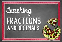 Fractions and Decimals / Activities, ideas, and resources for teaching fractions and decimals with deep conceptual understanding / by Math Coach's Corner