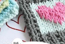 Knitted Blanket Squares