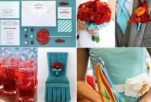 red and aqua baby