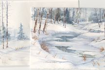 Christmas's watercolours / by Consuelo Martínez