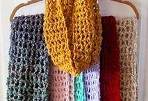 Easy crochet neck scarf